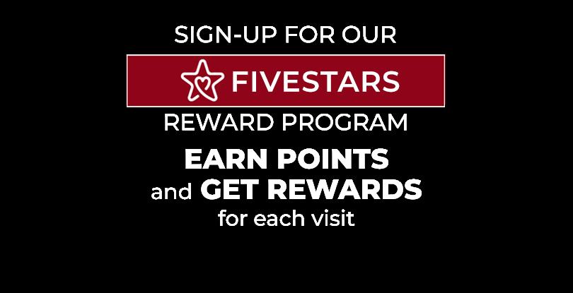 Fivestars Reward Program