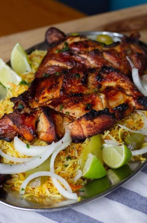 Grilled Chicken on rice